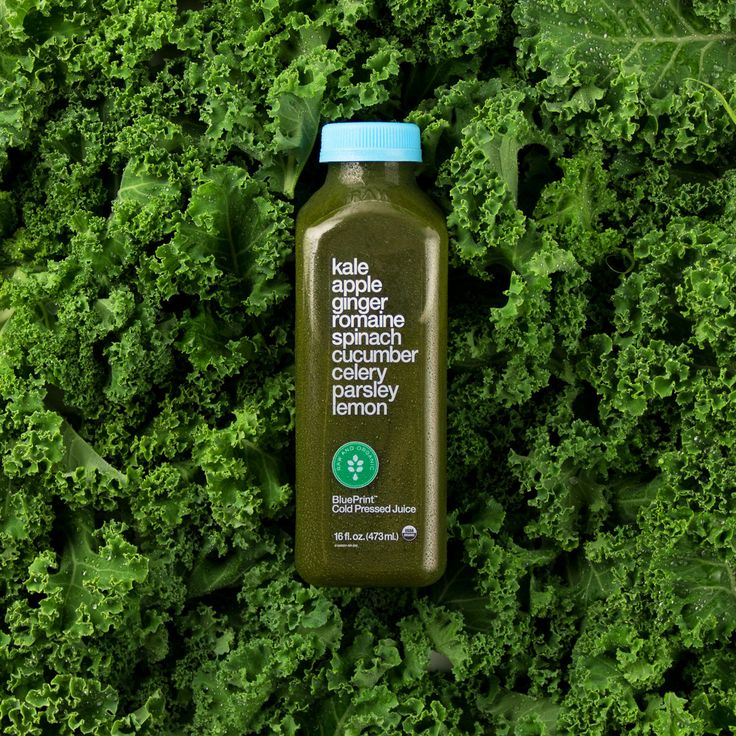 It's National Kale Day… Like you needed an excuse! Get your fiber, folates and vitamins in one juicy hit with BluePrint®. | Kale Apple Ginger Romaine Spinach Cucumber Celery Parsley Lemon Organic Raw Cold-Pressed Juice