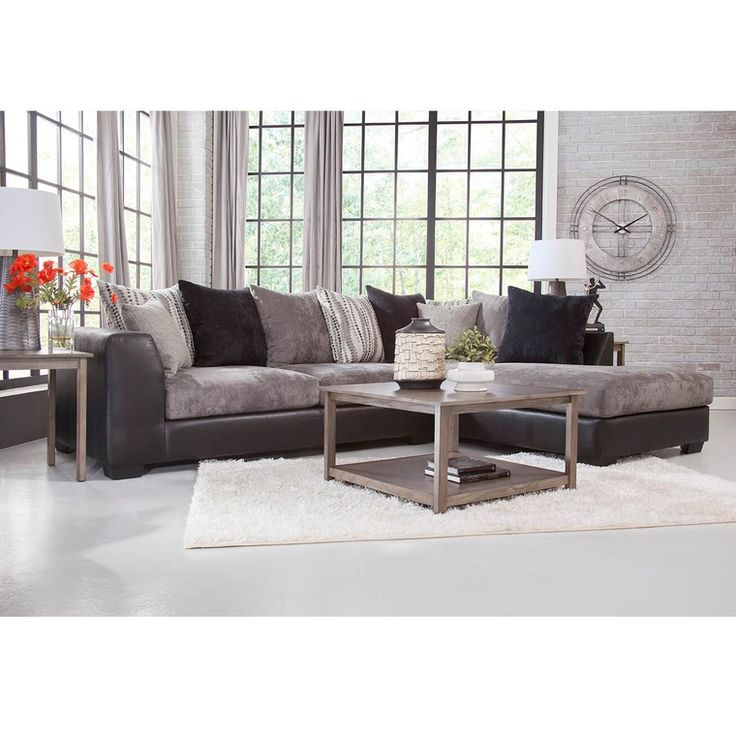 2 Piece Jamal Chaise Sofa Sectional, Aarons Living Room Furniture