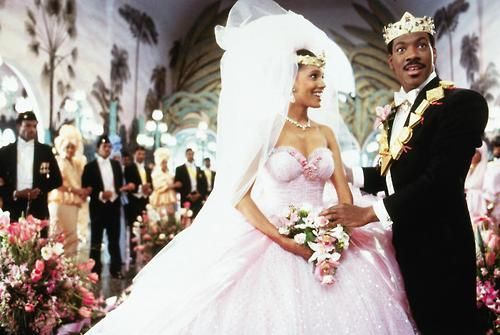 I always thought they made a good looking movie couple.  From Coming to America- Shari Headley and Eddie Murphy.