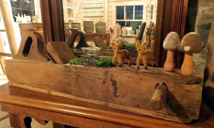 geschmückter Holzhobel