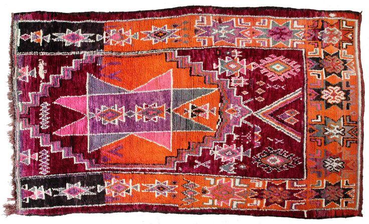 Boujad - Geometría - de HandsnLands en Etsy #tapisberbère #alfombrabereber #berbercarpet #boujad #berbère #bereber #tapis