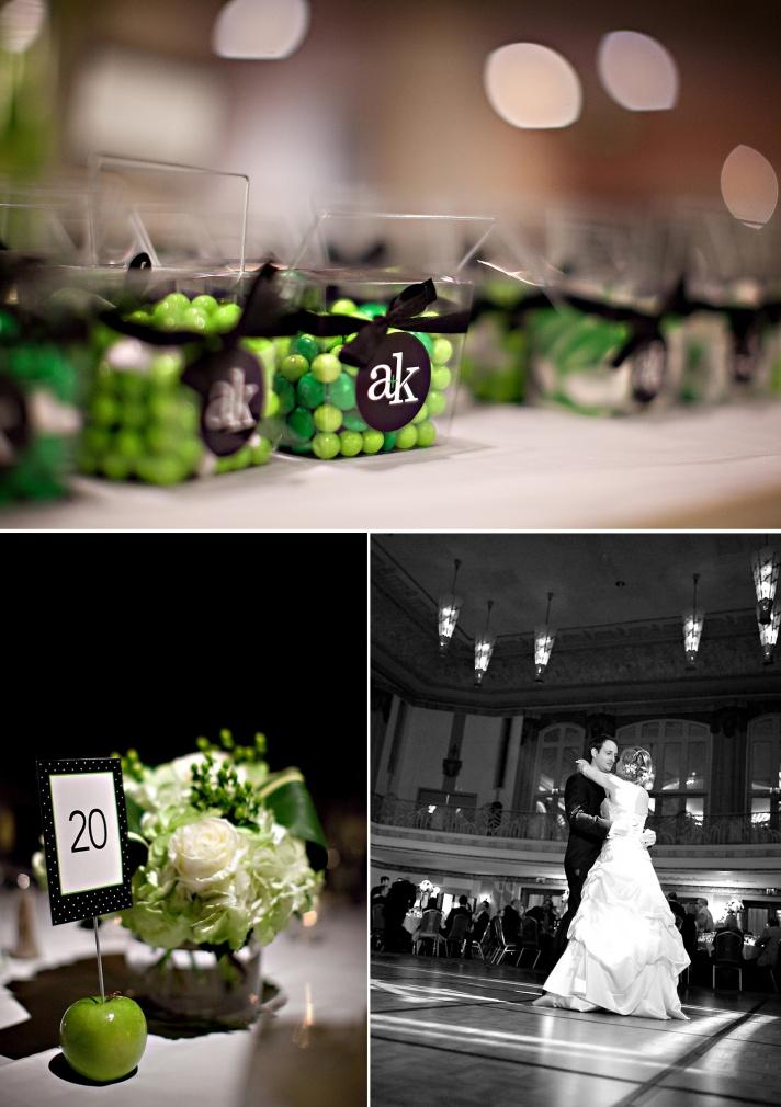 Elegant Black, Ivory and Green Real Wedding   OneWed: Wedding Guest Favors, Wedding Ideas, Elegant Black, Black Wedding, Real Wedding, Black White, Green Real, Black Decor, Green Wedding