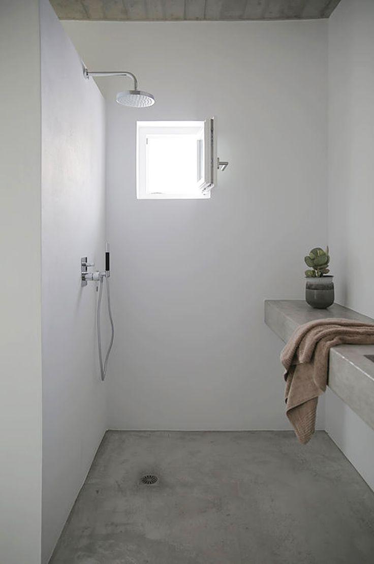 Inaile Set Designer Innenausstattung Beton Dusche Beton Badezimmer Minimalistisches Badezimmer