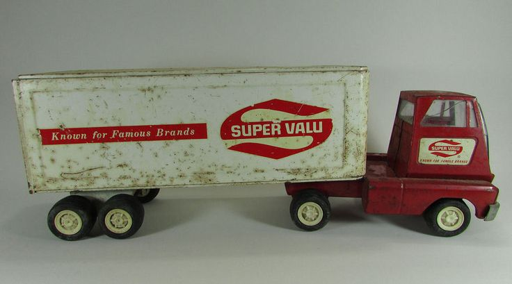"VTG Tonka Super Valu Semi Truck Tractor Trailer 15.5"" Pressed Steel Toy Value #tonka #truck #trucks #toytruck #toytrucks #semi #semis #semitruck #semitrucks #tractortrailer #tractortrailers  #pressedsteel #pressedsteeltoy #pressedsteeltoys #1970s #70stoys #1970stoys #vintagetonka #tonkavintage #vintagetoy #vintagetoys #toy #toys #antiquetoy #antiquetoys #supervalu #supervalue #toysemi #toysemis #semitoy #semitoys"