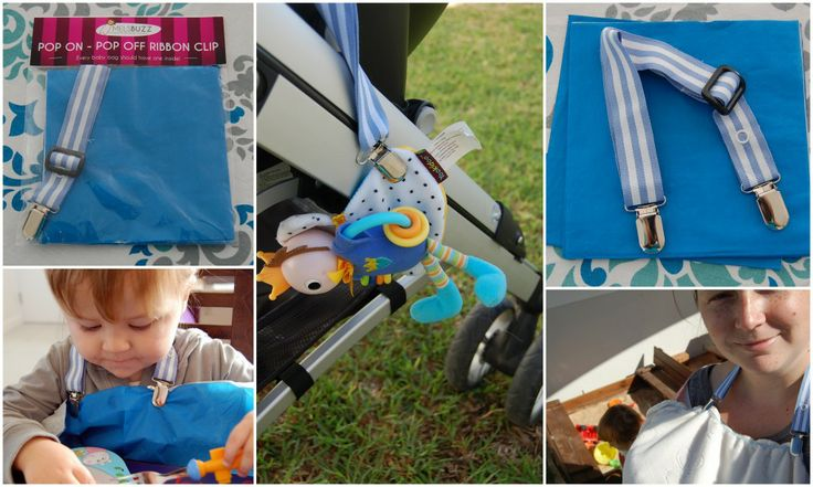 Melsbuzz Baby Accessories - bib, bib mat, pop on pop off clip and dummy ribbons : The Mommy City