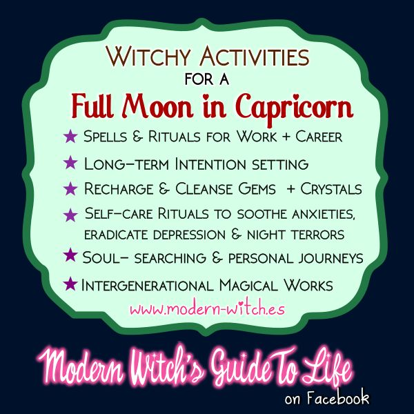 ∆ Moon Magick... ★ Witchy things to do on this Full Moon in Capricorn★