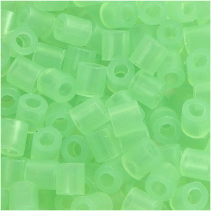 Perline da stirare 1100 pezzi colore verde trasparente 25, perline a fusione Nabbi beads, pyssla