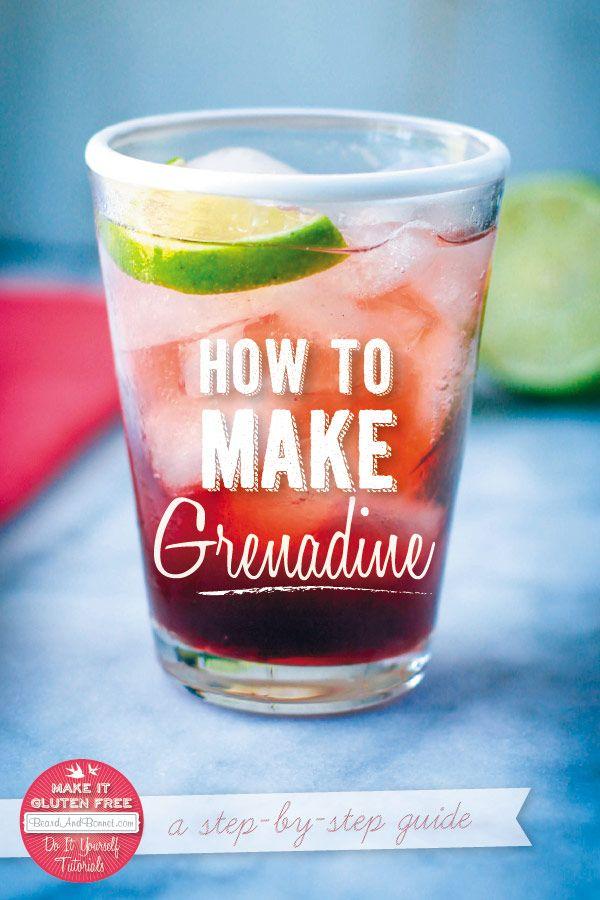 How To Make Grenadine {Beard and Bonnet} #glutenfree #vegan