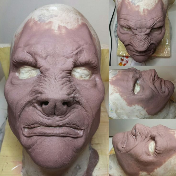 Werewolf monster clay sculpt for full face prosthetic piece.