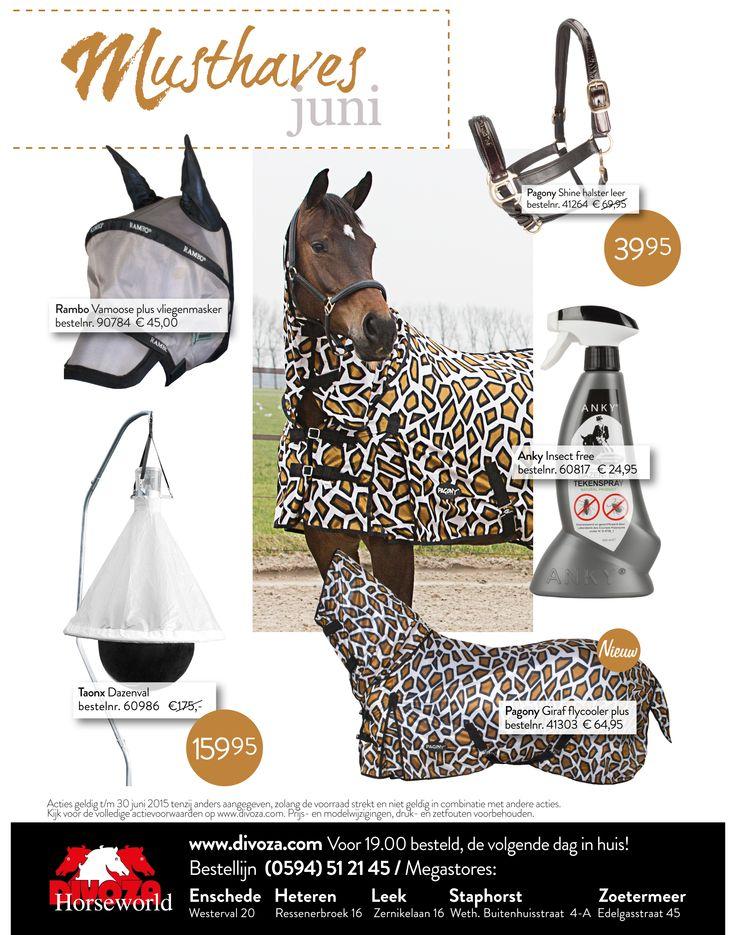 #musthaves van de maand #juni bij #divoza 2015. #ruitersport #horses #paarden #mode #giraffe #ruiter