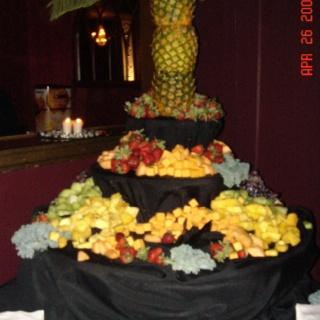 Layered Fruit display table.  share the care prom