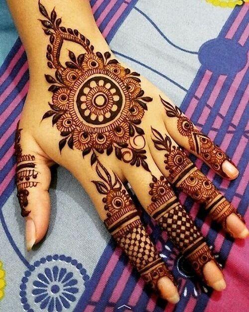 Eid Mehndi Design 2017 for Back of Hand