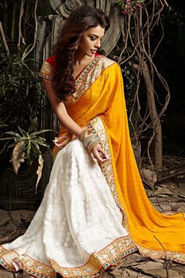 #Shop #Online Formidable Yellow Color #Designer #Saree @Best Price