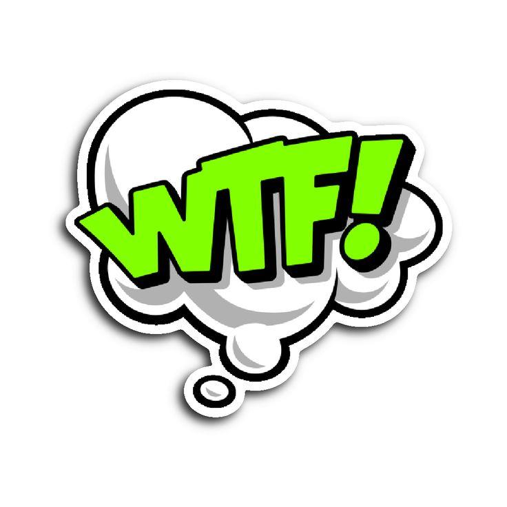 Comic Book Speech Balloon Stickers - WTF!