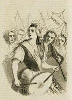Louise-Renée Leduc, also Reine Audu, was a French fruit seller, known for her participation in the French revolution. The 5 October 1789, she, alongside Theroigne de Mericourt, led The Women's March on Versailles. She belonged to the delegation allowed an audience with Louis to put forward their complaints. The 10 August 1792, she participated in the storming of the Tuileries Palace. She fought personally with the soldiers of the Swiss guard. She was honored with a sword by the Paris…