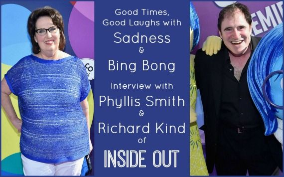 Good Times, Good Laughs with Sadness & Bing Bong: Interview with Phyllis Smith and Richard Kind of INSIDE OUT ~ #InsideOutBloggers