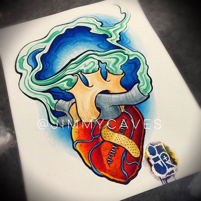 91 best art by jimmy caves images on pinterest cave for Heart surgery tattoo