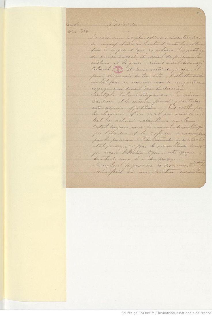 Fonds Marcel Proust. I — ŒUVRES DIVERSES. I Papiers scolaires.