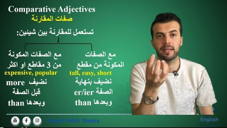 صفات المقارنه في اللغة الانجليزية Comparative And Superlative Adjectives Comparative Adjectives Adjectives Incoming Call Screenshot