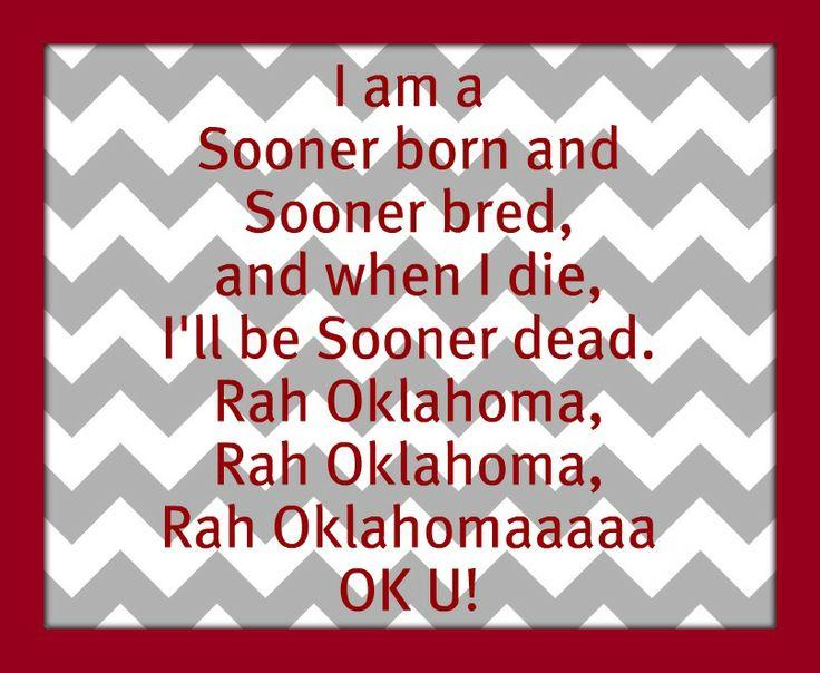 Boomer Sooner   BOOMER SOONER.
