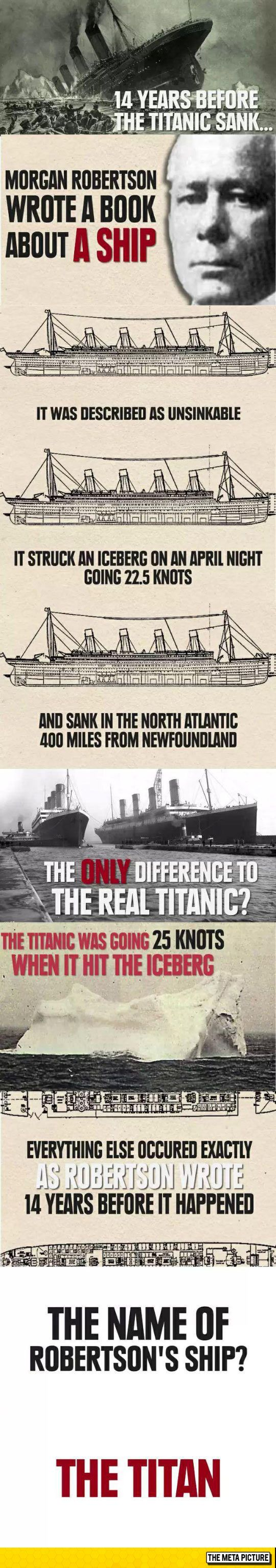 Idk if this is true or not, but if so, it makes u think for a second that the Titanic might have been sabotaged and sunk on purpose. But ive talked myself out of that conclusion