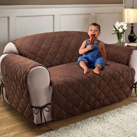 2 Seater Quilted Sofa Cover Pr
