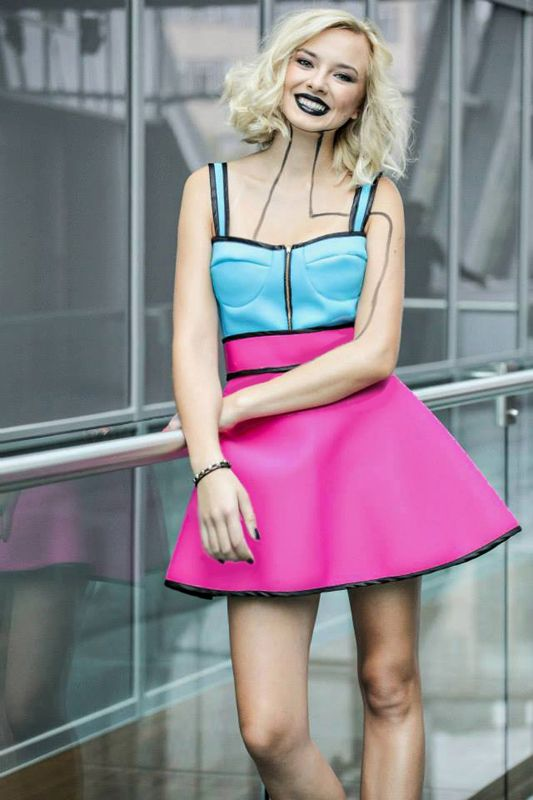 "Singer from ""Voice of Poland"" Natalia Nykiel for MissSpark. Fashion/Styling: Agnieszka Iskierka. Corset & Skirt available online: shop.missspark.com"