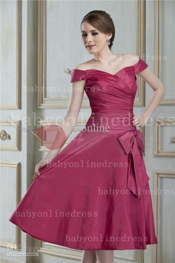 Wholesale bridesmaid dress buy custom made off shoulder for Made of honor wedding dress