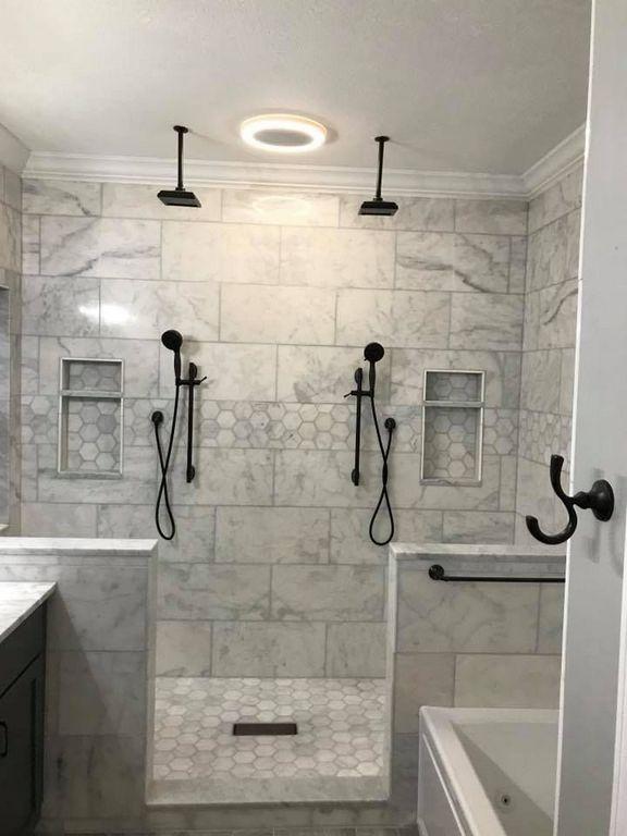 32 Simply Double Shower Head Master Baths Bathroom Remodel Shower Master Bathroom Shower Shower Remodel