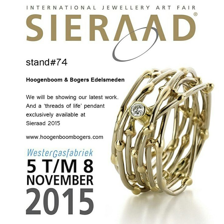 We will be showcasing our work at Sieraad Art Fair in Amsterdam, the Netherlands on november 5,6,7 and 8, 2015.