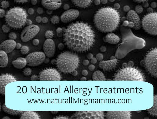 20 Natural Allergy Treatments - Natural Living Mamma   Are your allergies bad this time of year? Check out these 20 natural allergy treatments and see if there are any that might work for you.   #allergies #natural #pollen