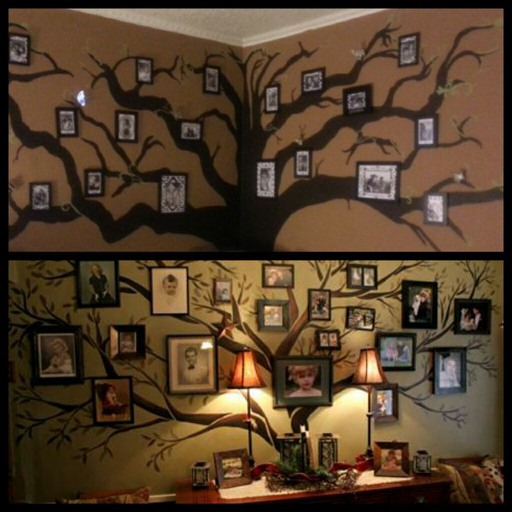 Interesting Home Decor Ideas: Interesting Family Tree Picture Frame Idea!