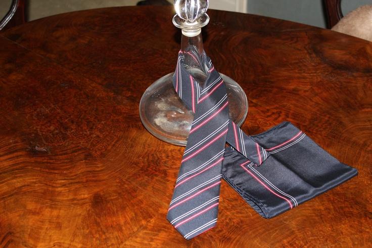 Lanvin tie with Pocket Square