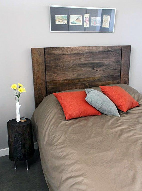 tree stump side table DIY project completed
