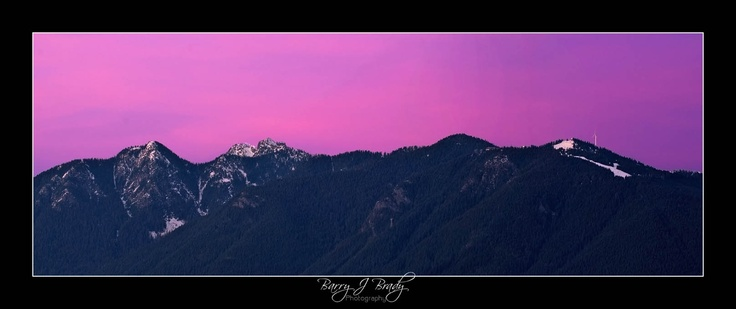 Sunset over the Coastal Mountains, Vancouver