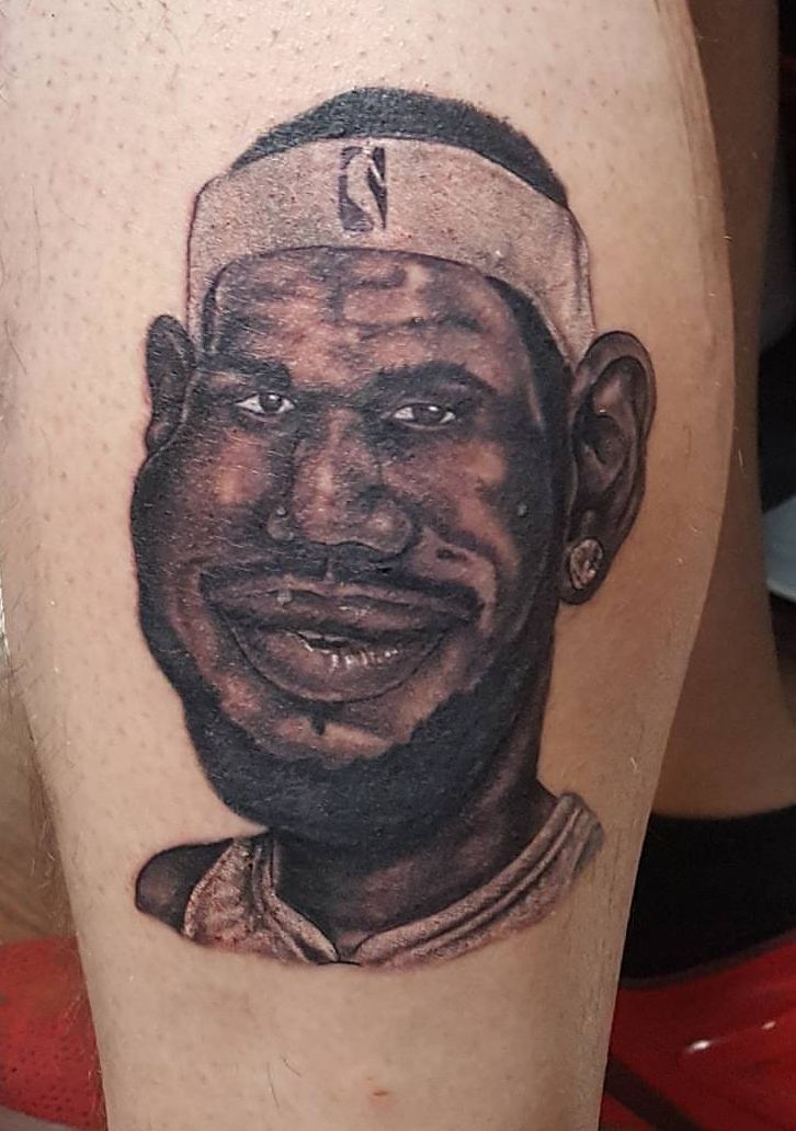 Did this character of LeBron James on my buddy because he lost the bet 2 years ago to my other buddy. http://ift.tt/2z3VXx4
