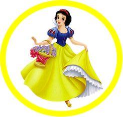 Etiquetas y toppers para imprimir gratis de Princesas Disney.