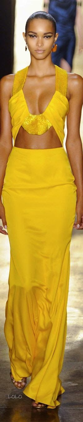 Prime Broker. Beautiful mustard-colored dress.