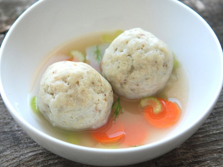 Passover Matzoh-Ball Soup | The matzoh balls in Andrew Zimmern's simple chicken soup are hearty and satisfying but light enough to float. They are perfect for Passover.