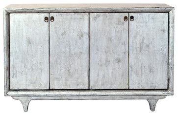 Mormont Gray 4 Door Tall Sideboard - transitional - Buffets And Sideboards - Madera Home