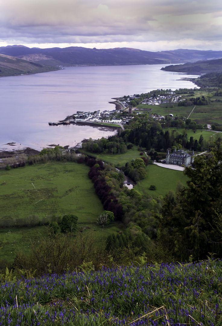 https://flic.kr/p/tqCxwB | Argyll | Loch Fyne and Inveraray from above, Scotland