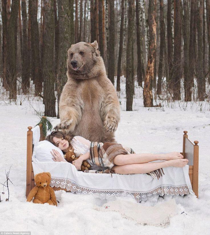 Спящая с медведем. http://Gudok62.ru