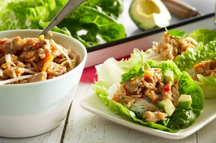 Feed your family with Curtis Stone's delicious Thai chicken lettuce cups with avocado & lime.