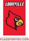 "Louisville Cardinals Applique Banner Flag 44"" x 28"""
