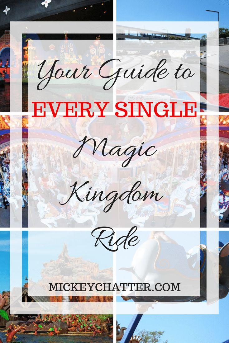 Your guide to EVERY SINGLE Magic Kingdom ride #magickingdom #disneyworld #disneyrides