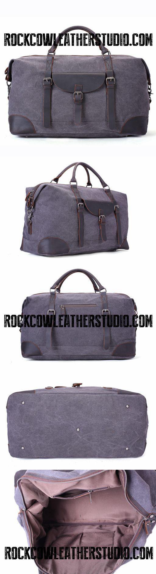 Waxed Canvas Overnight Duffle Bag, Holdall Bag, Sports Bag AF33