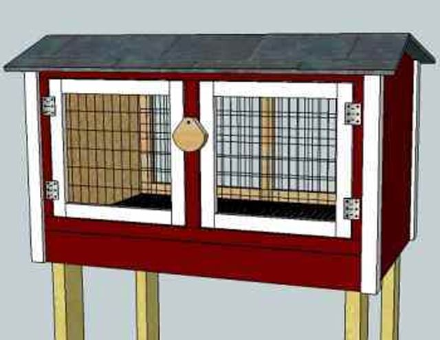What are some plans for constructing a rabbit hutch?