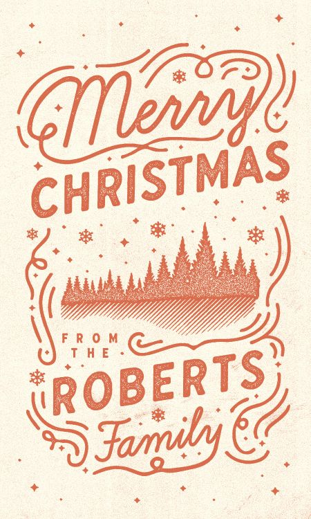 type-lover: Christmas Card by Jay Roberts, via SerialThriller™