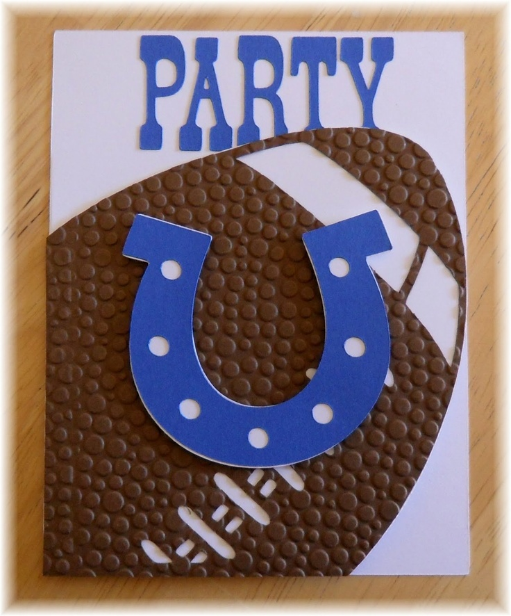 Colts Birthday party invite by Jennifer http://scrapperatheart.blogspot.com/
