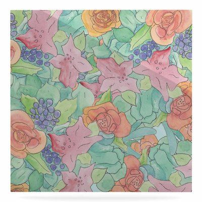 "East Urban Home 'Southwestern Floral' Painting Print on Metal Size: 10"" H x 10"" W x 1"" D"